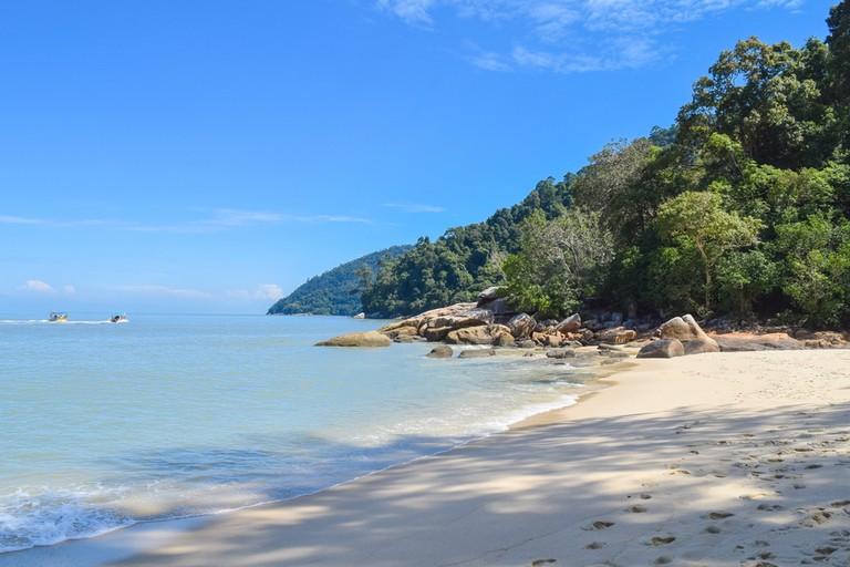 Pantai Keracut beach. Penang island National Park. Malaysia
