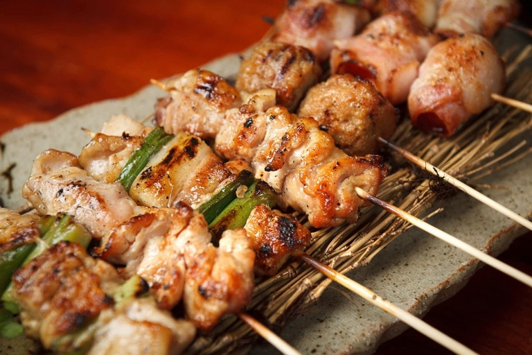Mix yakitori, Japanese bbq skewers.
