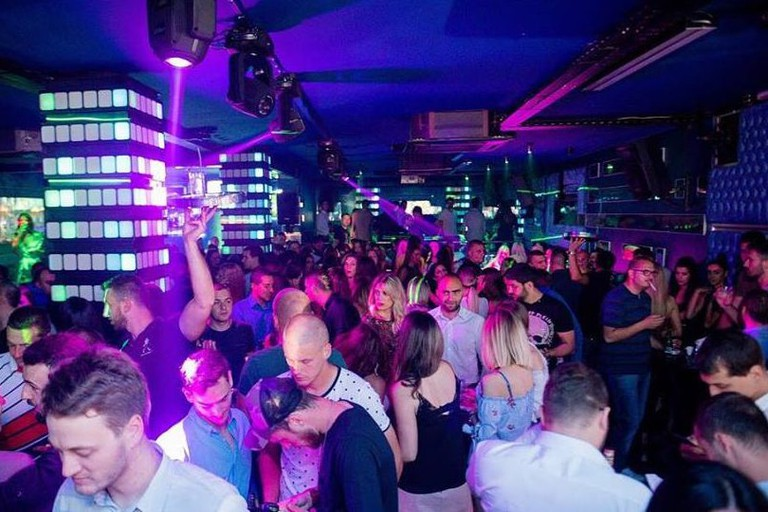 A typically packed night at Klub Skala in Užice, Serbia