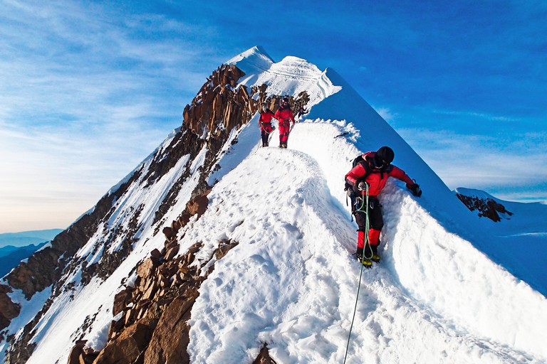 mountain climbing bolivia south america