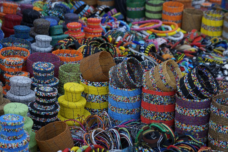 Handcrafted goods at the Maasai Market
