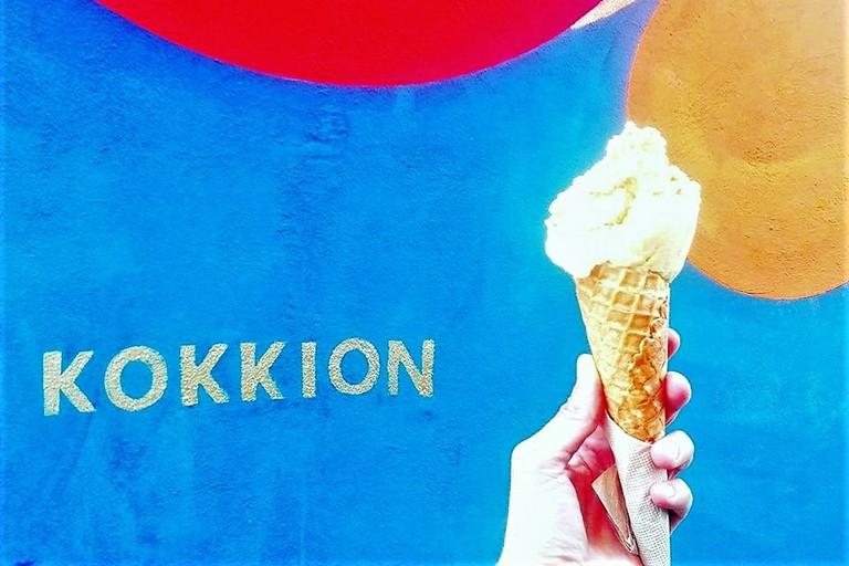 Kokkion ice cream Athens