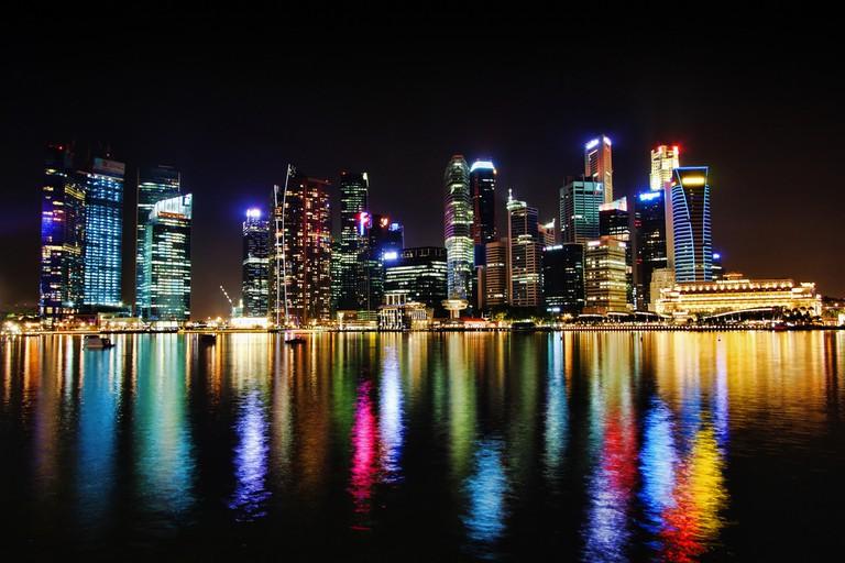 Singapore's urban skyline of the Shenton area