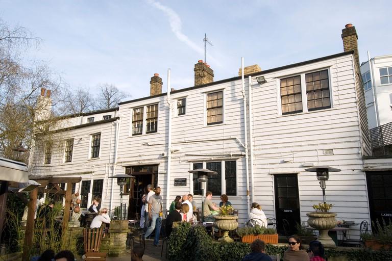 The Spaniards Inn pub in Hampstead, London