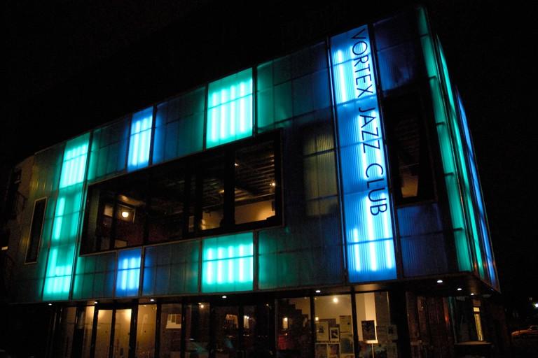 Exterior Vortex Jazz Club, Dalston, East London.