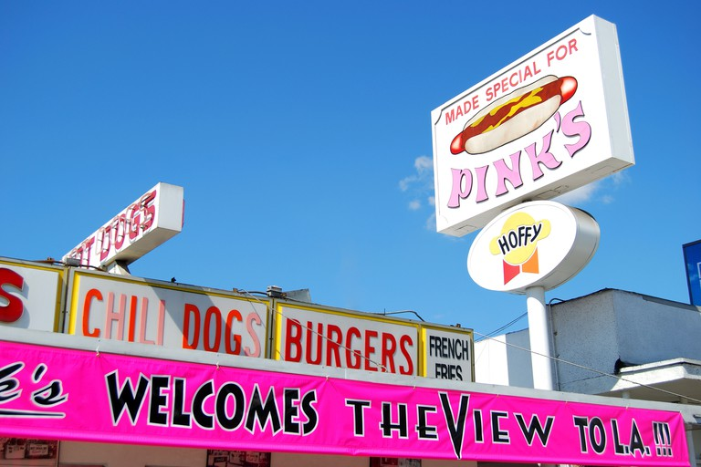 Pink's Hot Dogs, North La Brea Avenue, Hollywood, Los Angeles, California
