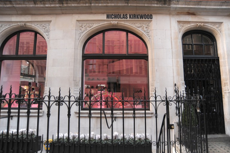 Exterior shot of the Nicholas Kirkwood store on Mount Street London England 2011 - Image Copyright Ben Pruchnie 2011