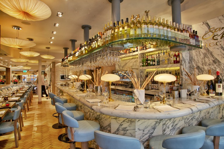 Interior of San Carlo Cicchetti in Covent Garden
