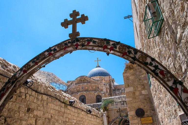 The church of the Holy sepulcher in Jerusalem , Israel