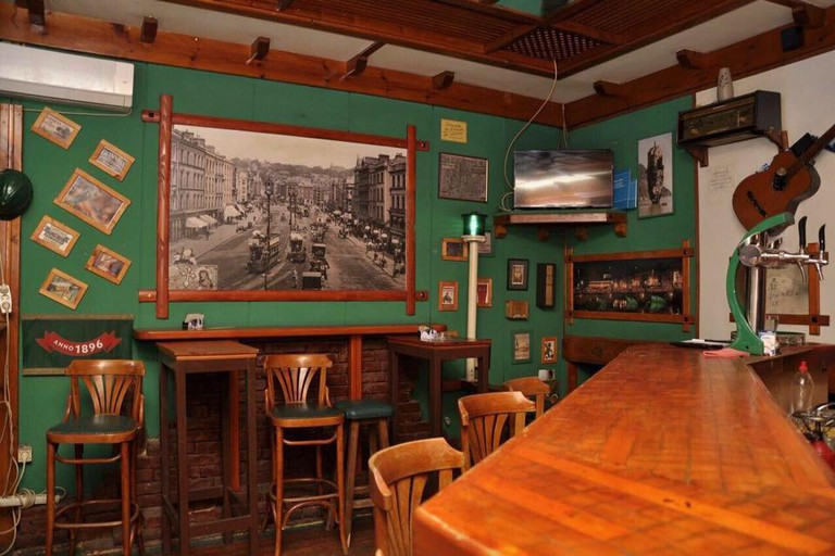 The bar at Dublin Pub in Bar, Montenegro