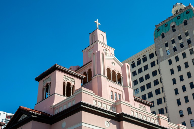 The historic Gesu Catholic Church dates back to 1896