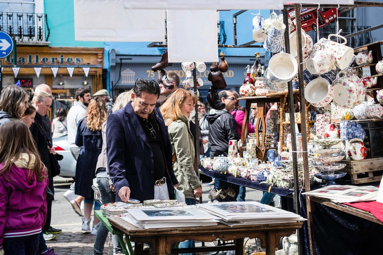 Portobello Road Market, London.