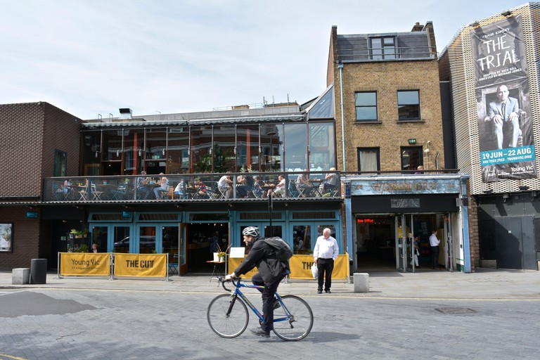 The Young Vic from the Cut, London.