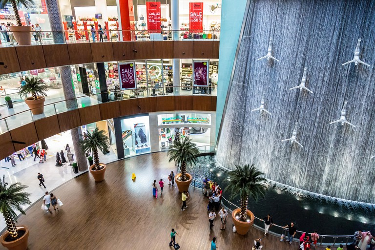 The Dubai Mall is the world's largest shopping mall