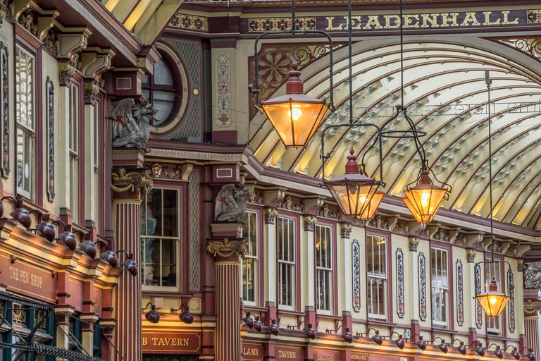 Leadenhall Market was designed by Sir Horace Jones