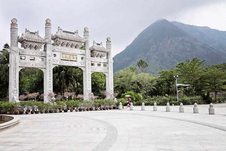 Entrance to Po Lin Monastery