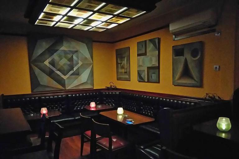 The interior of Pub Galerija in Bar, Montenegro