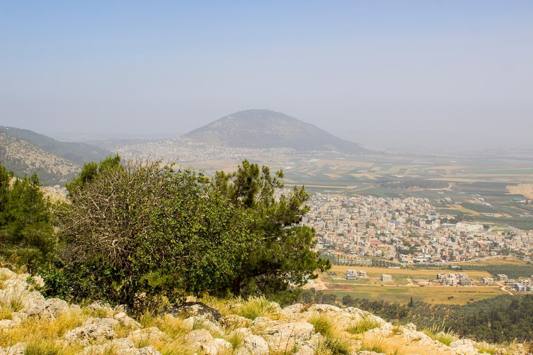A view of Mount Tabor in Israel