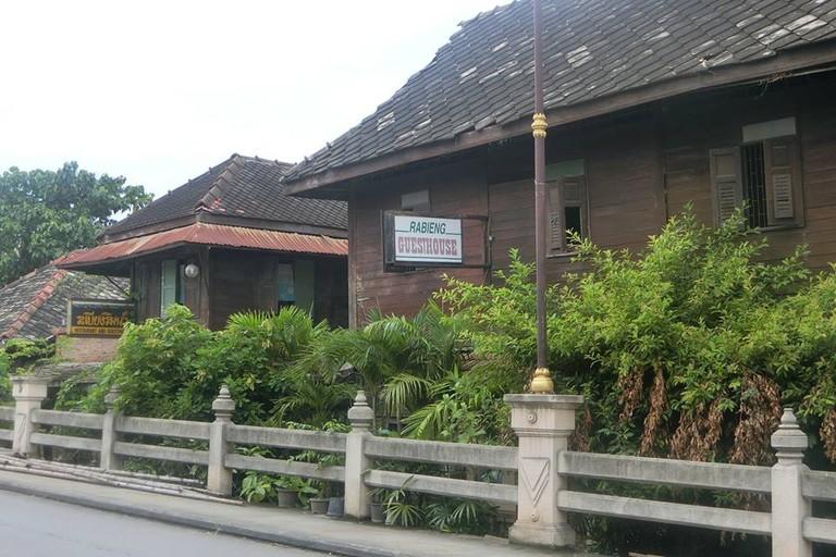 Outside Rabieng Rimnam restaurant