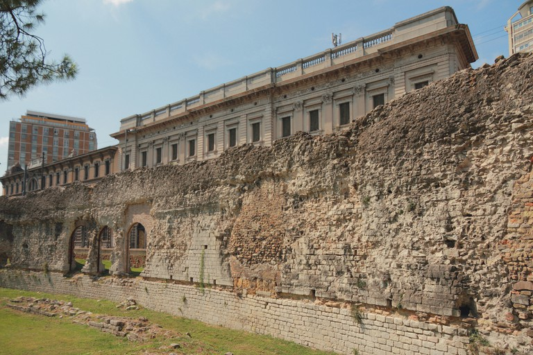 Ruins of ancient Roman arena. Padua, Veneto, Italy.