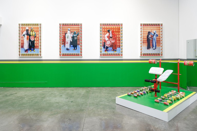 An exhibition by artist Hassan Hajjaj at the Third Line Gallery in Dubai