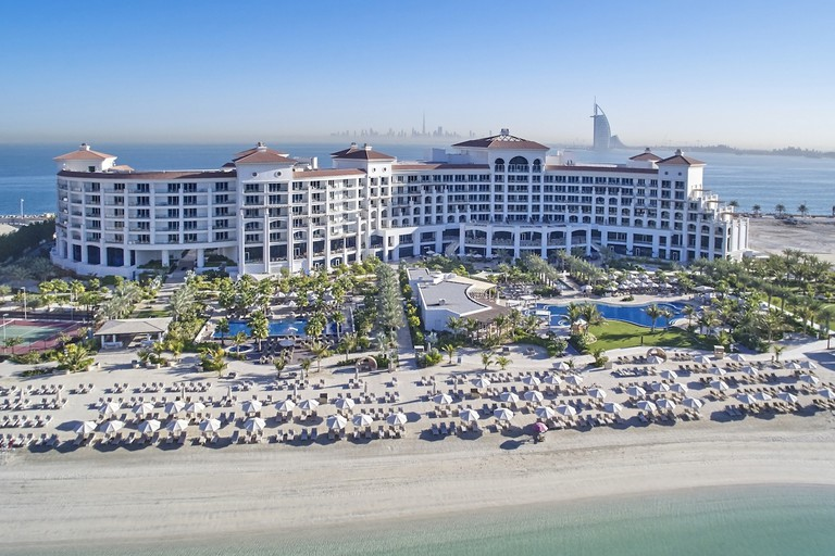 Waldorf Astoria Dubai is on Palm Jumeirah