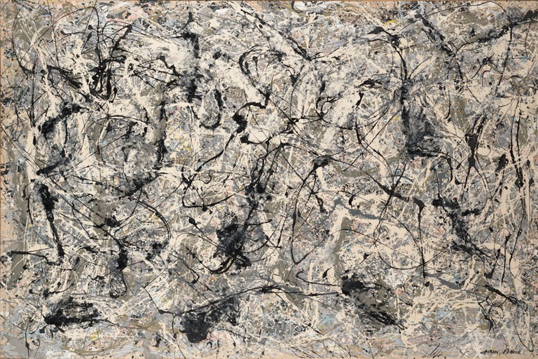 01. Jackson Pollock. Number 28, 1950, 1950 at the MET Museum New York