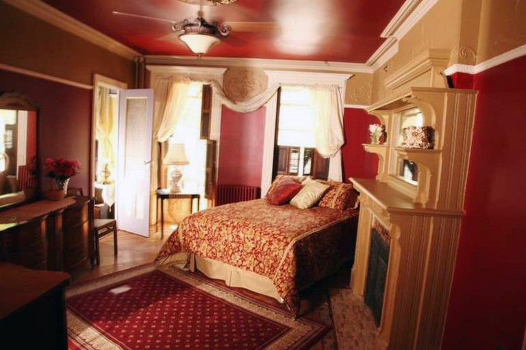 The Sankofa Aban Bed and Breakfast's rooms are richly decorated