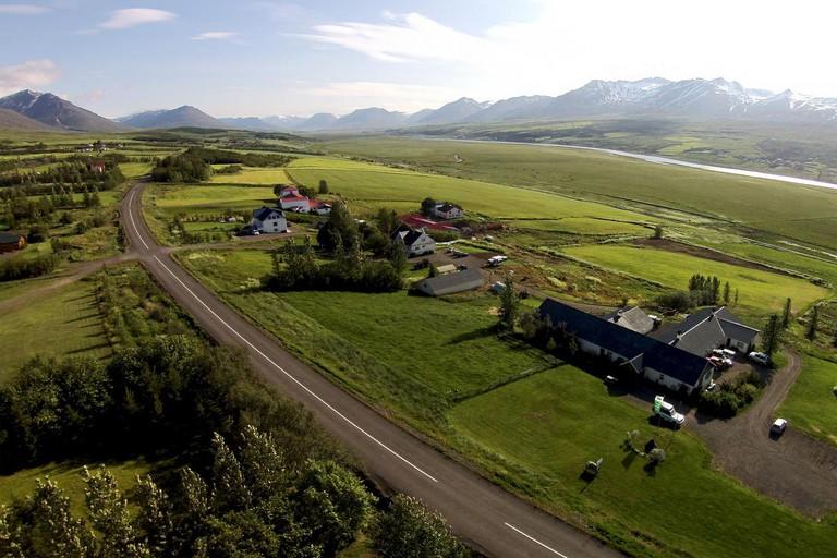 Lamb Inn Öngulsstaðir is surrounded by Eyjafjörður Fjord