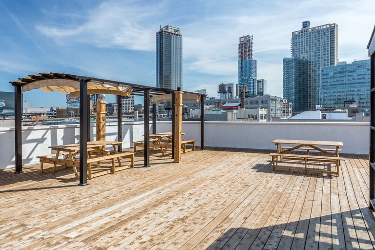 The rooftop terrace at LIC Hotel