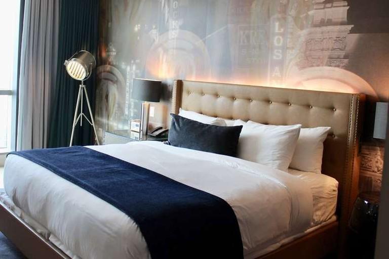 Hotel Indigo Los Angeles The rooms at Los Angeles' Hotel Indigo are adorned with original artworks