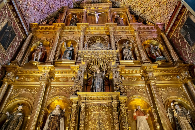 Santa Clara museum, church, detail of the altarpiece, Bogota, Colombia