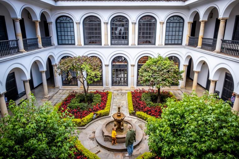 Courtyard of Botero Museum, Bogota, Colombia