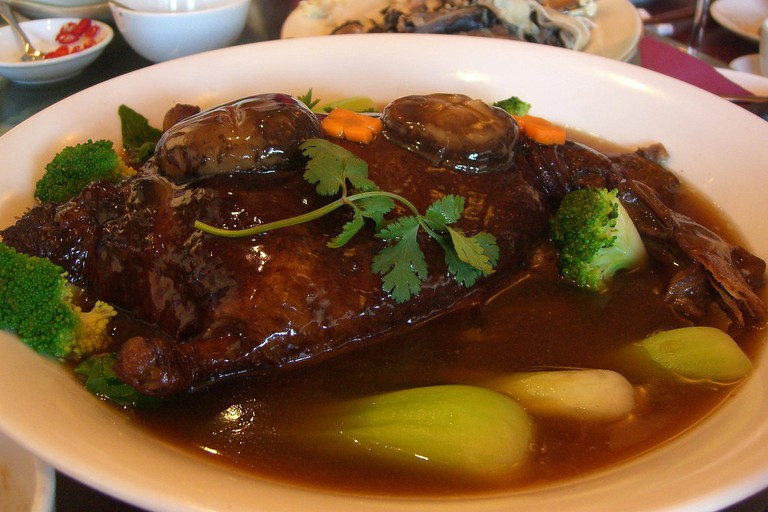 Duck with chestnut