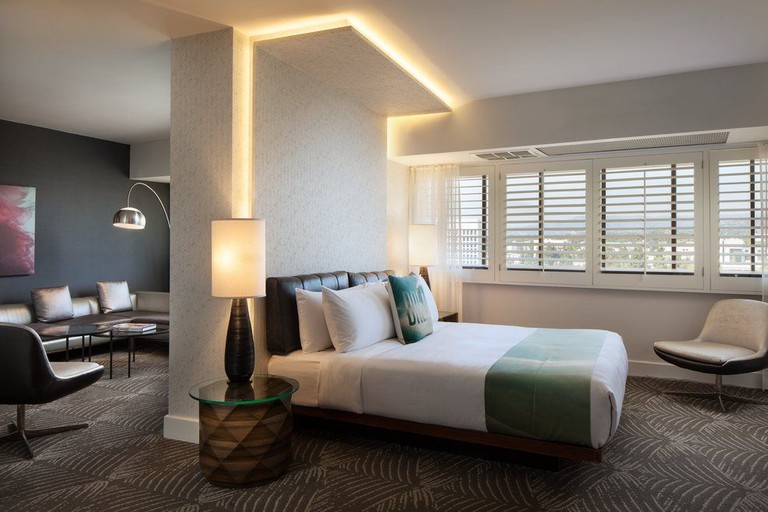 The W Hotel – West Beverly Hills' rooms feature plush furnishings