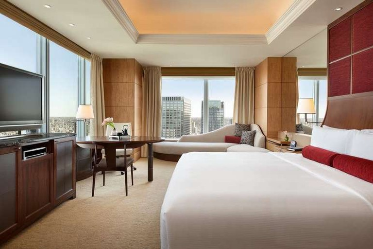 Look out over Tokyo from your room at the Shangri-La Hotel
