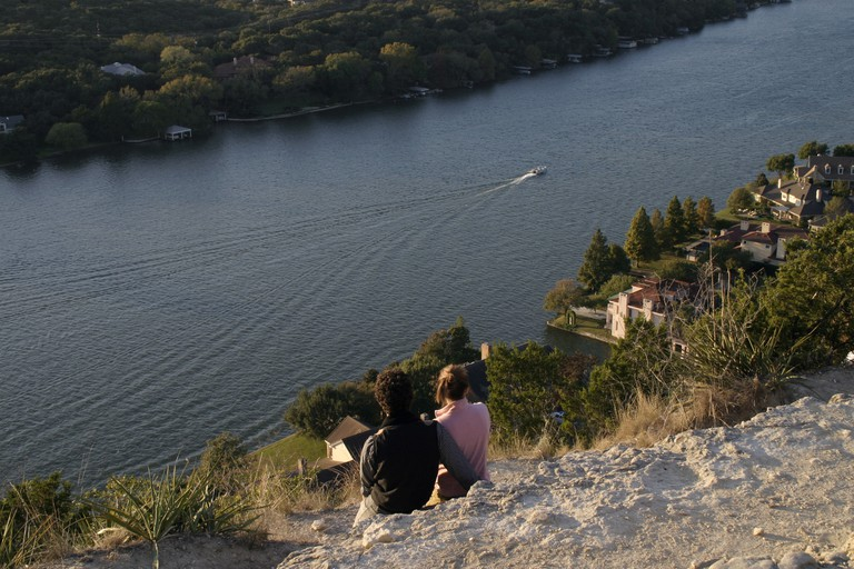 The view from Mount Bonnell in Austin, Texas, USA.