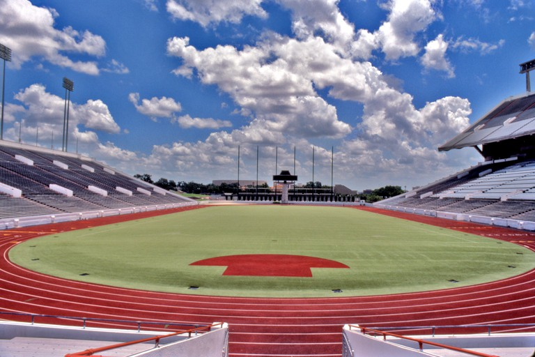 Darrell K Royal Memorial athletic stadium, University of Texas, Austin, Texas, USA.