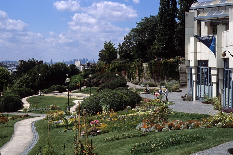 Parc de Belleville, Paris.