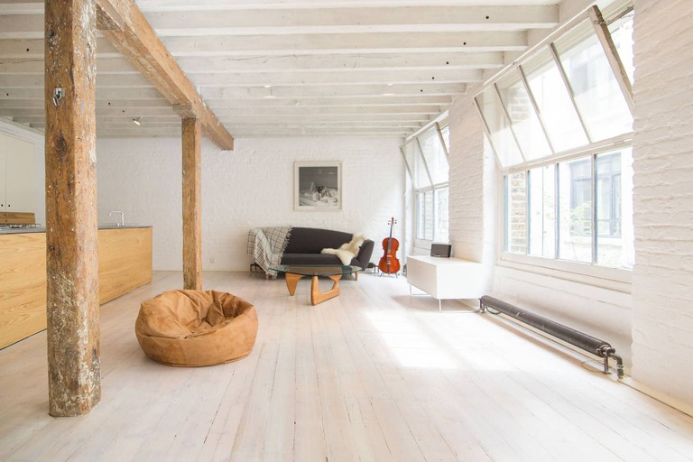 This loft apartment feels like a rock star's pad
