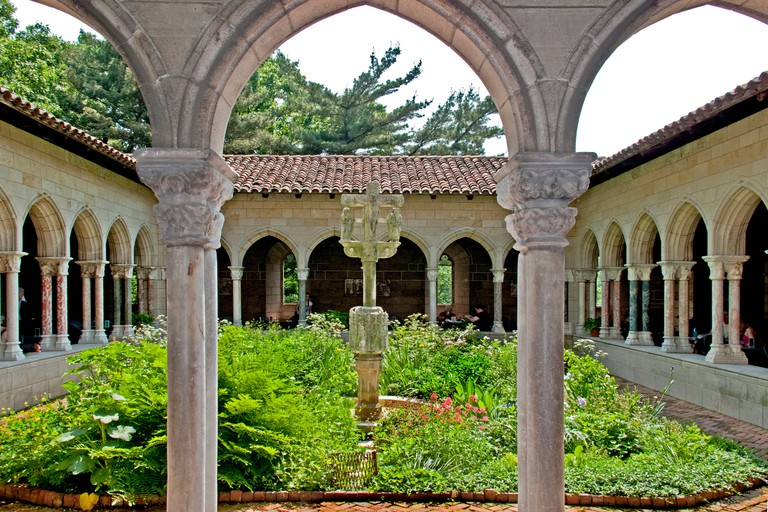 14th Century Trie Cloister at The Cloisters Museum in New York City's Fort Tryon Park.