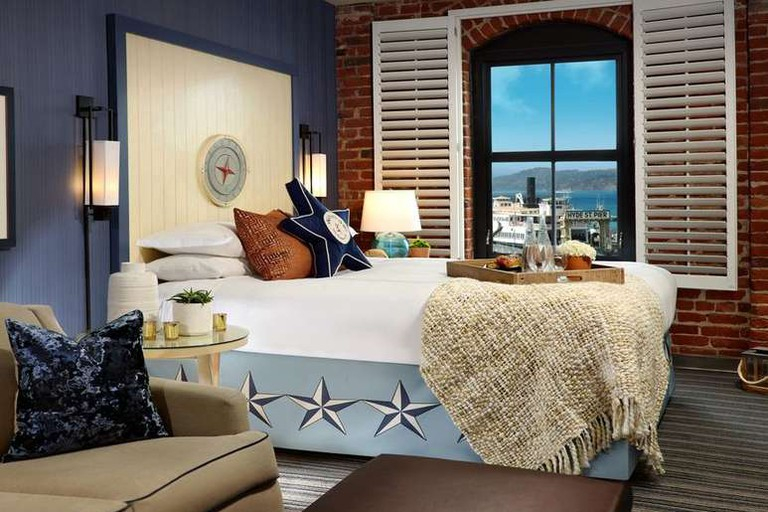 The Argonaut Hotel's rooms are nautical themed