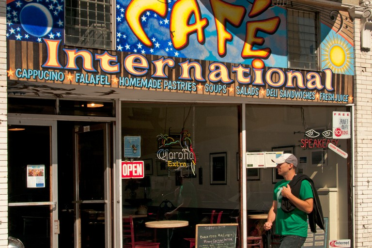 Cafe International in Haight Ashbury of San Francisco, California, USA.