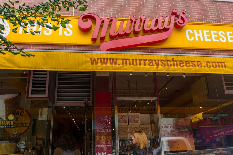 Italian Murray's Cheese Store, Manhattan, New york.