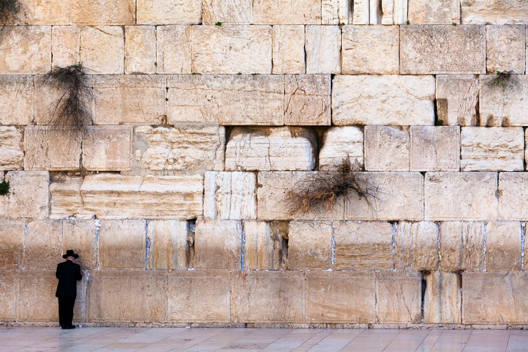 View of the Jerusalem wailing wall also known as The Western Wall, Israel.