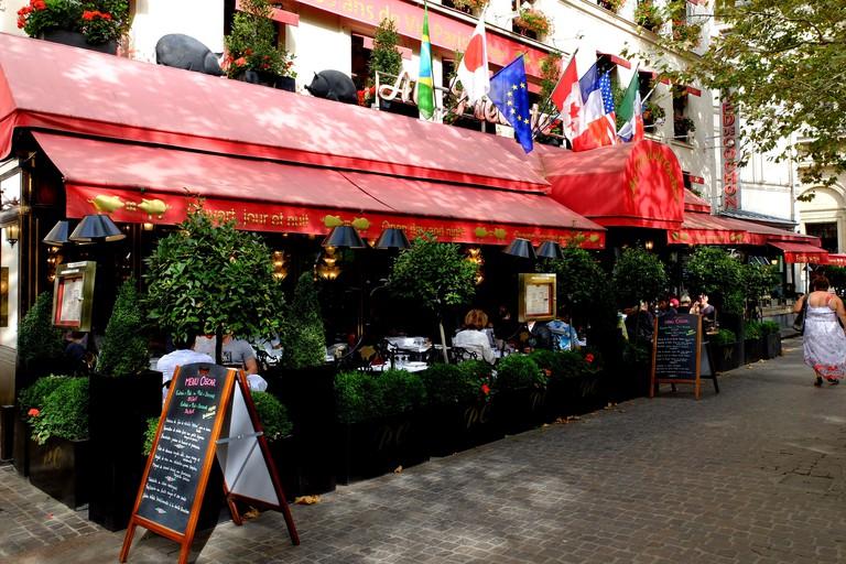 Famous restaurant Au Pied de Cochon, les Halles, in Paris, France