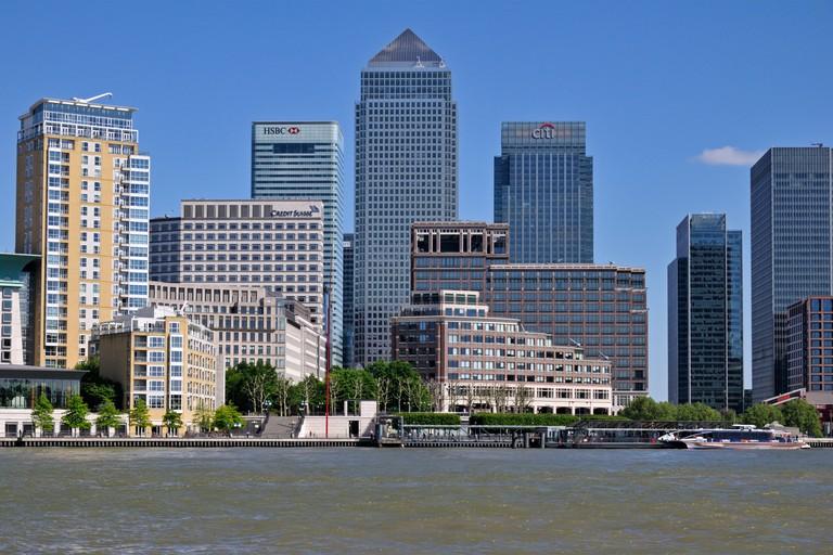 Riverside, Canary Wharf Estate, Isle of Dogs, Docklands, London E14, United Kingdom