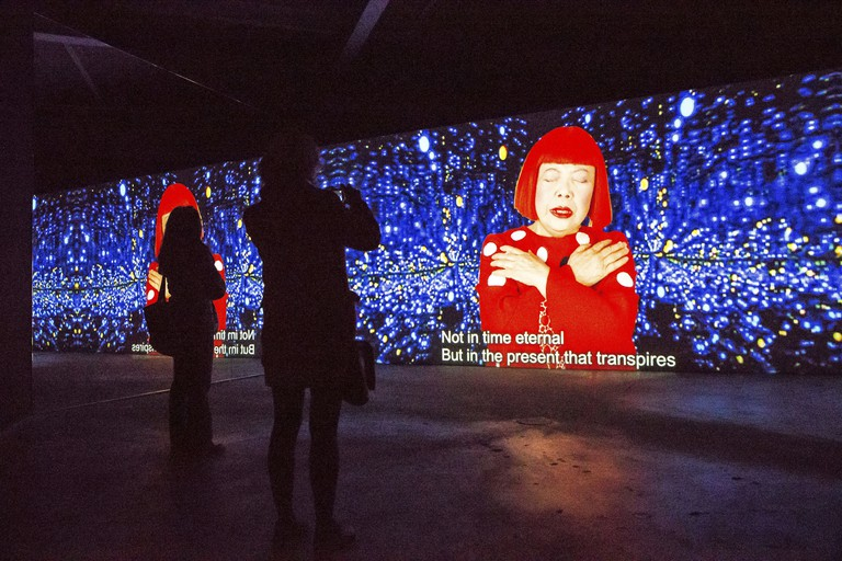 'I Who Have Arrived in Heaven' by Yayoi Kusama was the inaugural exhibition at the David Zwirner Gallery in 2013