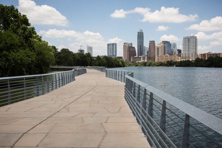 The Boardwalk Trail at Lady Bird Lake in Austin, Texas, USA.
