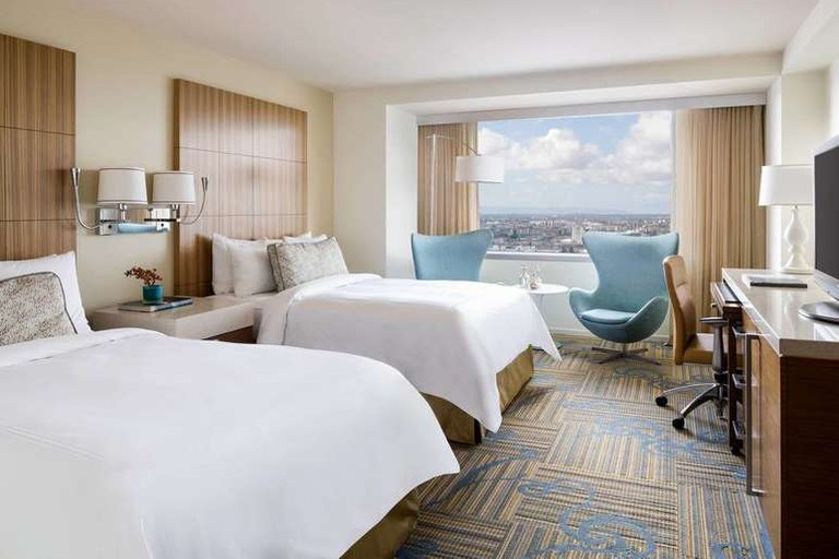 The JW Marriott Los Angeles LA Live is next to the Staples Center